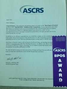 ASCRS Best Paper