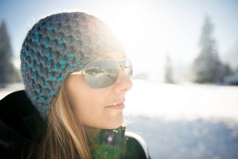 Sunglasses important in snow
